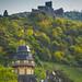 Bernkastel-Kues und  die Ruine der Burg Landshut