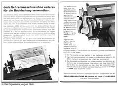 ORDO Maschinenbuchhaltung 1946 (shordzi) Tags: typewriter vintage office bureau ad august 1940s werbung reklame 1946 schreibmaschine ordo buchhaltung organisator schweizermonatsschrift derorganisator ordoorganisationsag ordomaschinenbuchhaltung