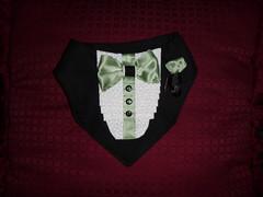 Tuxedo bandana - small (DianaDesignsNY and the Gs) Tags: tuxedo weddding dogclothes tuxedobandana