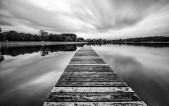 Losheimer See (YaYapas) Tags: blackandwhite bw lake monochrome deutschland see jetty schwarzweiss 11mm saarland steg langzeitbelichtung longtimeexposure d80 nd110 losheimamsee bwnd110 tokina1116