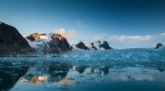 Switjodbreen @ Spitzbergen (Pewald) Tags: nature norway reflections landscape autum glacier svalbard spitzbergen bestcapturesaoi sweetjodbreen
