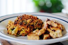 sunday dinner (javan123) Tags: food cooking dinner nikon dof bokeh sunday plate broccoli casserole tamron2875 cookingisnotmything