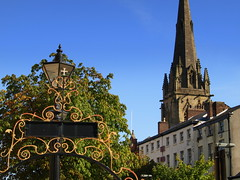 Beauty of Preston (Tony Worrall Foto) Tags: county old city blue sky metal tour northwest image painted name north victorian rail visit location row spire made preston ornate churchstreet upright past toilets pastime olden railes stjohnschurch bygone millerarcade relice 2013tonyworrall