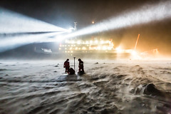 Working in the polar night and in a storm (europeanspaceagency) Tags: antarctica esa eo cryosat earthobservation cryovex