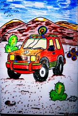 Sahara Einsatzwagen (eagle1effi) Tags: sahara colorful panasonic farbig bunt buntstifte malstunde wachsmalkreide zs30 effiart reisezoom travelzoom tz40 dmctz41 travellerzoom travelerzoom tz41 panasoniclumixdmctz41 frandrea