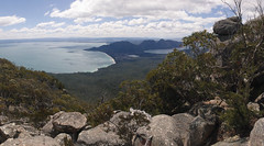 View of Freycinet from Mount Freycinet