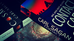 Carl Sagan Day [313/365] (eskayfoto (aka Nomis.)) Tags: film oneaday vintage lumix book day jennifer space books science literature panasonic carl photoaday physics novel astronomy tribute contact 365 effect cosmos cosmology sagan pictureaday novels astrophysics astronomer physicist carlsagan day313 astrophysicist project365 lx3 project365313 day313365 fiximage carlsaganday saganday 09nov13 3652013 ipiccy vintagejennifereffect 365the2013edition vintagejennifer project36509nov13 project365110913