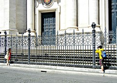 A Souvenir of Rome (d vintage) Tags: rome church fence nikon photographer candid streetphotography tourists piazzanavona nikoncoolpix