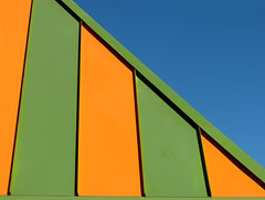 Blue Green Yellow (arbyreed) Tags: blue orange abstract green lines yellow bars diagonallines artsty arbyreed