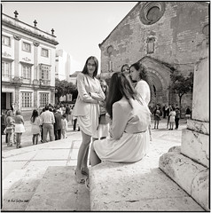 A Sunday in front of the church_Hasselblad (ksadjina) Tags: 6x6 film analog blackwhite spain scan andalusia hasselblad500cm jerezdelafrontera silverfast kodak400tmax 10min adoxaph09 nikonsupercoolscan9000ed carlzeissdistagon40mmf14