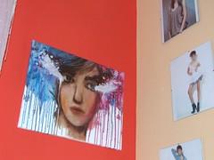 anyuci nvnapjra:)-vszon, olaj (csillmpni1) Tags: blue red face wall painting graffiti sketch photo model paint canvas kami gep solia