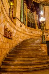 The Grand Assembly Stairway (nikabuz) Tags: longexposure architecture buildings interior tripod gothic sydney australia nsw artdeco statetheatre historicalbuilding c1929 tokina1116mmlens sydneyarchitecturefestival nikond7000 victorzubakin nikabuz sydneyopen2012
