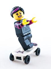 Lego Skater Girl (wwarby) Tags: slr fun toy toys lego character small wheels olympus indoors whitebackground skateboard digitalcamera skater e3 figurine zuiko lighttent digitalslr minifigure skatergirl 50mmmacro zuikodigital olympuse3