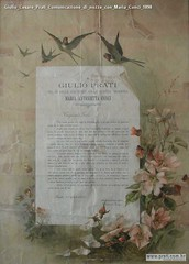 Giulio Cesare Prati Comunicazione di nozze con Maria Conci 1898