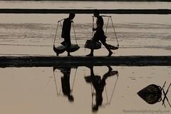 full and empty (PawL23) Tags: petchaburi thailand salt basket reflection silhouette sunrise shadow earthasia