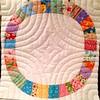 Single Girl block with pearl 8 cotton pick stitch quilting (Ruby Grey Studio) Tags: lauraburke handquilting modernquilt singlegirlquilt rubygreystudio
