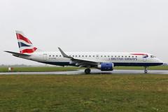 G-LCYM British Airways E190 at Southend EGMC (AeroPics) Tags: cj sen londoncity embraer diversion cfe embraer190 e190 eglc egmc londonsouthendairport glcym lcydiversion