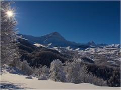 Le plateau des Albiez un lendemain de neige