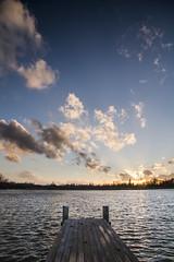 Haarrijnseplas Utrecht 02 (PeterWdeK) Tags: blue sunset lake water clouds zonsondergang utrecht wolken blauwe vleuten uurtje haarrijnseplas