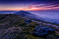 (John Ormerod) Tags: morning sky cloud mist rock fog sunrise fence landscape photography dawn gate day path derbyshire peakdistrict hill valley inversion mamtor hopevalley