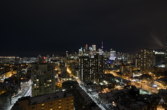 New places, Old friends (Fob Rord) Tags: longexposure toronto rooftop skyline night cntower urbanexploring urbex rooftopping