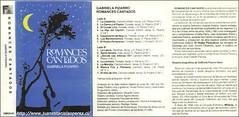 En este cassete Romances Cantados, editado por la Sección de Musicología de la Facultad de Artes de la Universidad de Chile en 1988