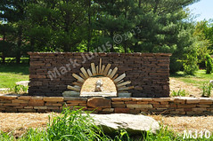 WM Mark Jurus 10, freestanding wall, arch, retaining wall, flat cap stones, dry laid stone construction, copyright 2014