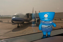 Uglyworld #2268 - Musts Flyers - (Project On The Go - Image 100-365) (www.bazpics.com) Tags: new blue wool plane project toy fly blog sweater airport day shanghai action handmade board crochet flight steps vinyl knit daily aeroplane international website figure april wait jumper 100 10th 365 adventures custom uglydoll total sha celebrate wedgie uglydolls hongqiao 2014 wedgehead uglyworld prettyugly barryoneilphotography adventuresinuglyworld uglyadventures