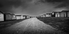 Beach Hut Street (Bill Allen.) Tags: sea blackandwhite bw white black beach mono seaside nikon hut blackandwhite d300s billallen