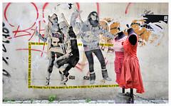 TIME TO DANCE (Spaceopera) Tags: voyage travel urban streetart paris france pasteup collage graffiti nikon mural marais urbain d90 nikond90