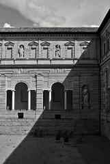 Night and day (S. Hemiolia) Tags: windows shadow blackandwhite bw ombra ombre finestra cloister sanpietro biancoenero reggioemilia finestre giulioromano chiostridisanpietro fotografiaeuropea fotografiaeuropea2014