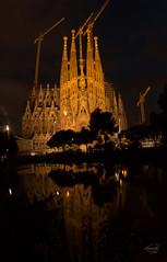 Sagrada Familia at night (ursulanoircent) Tags: barcelona familia architecture gaudi sagrada barcelone basilique basillica