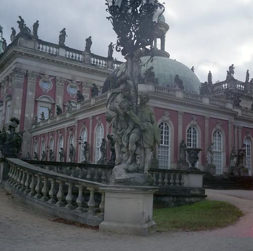 Statues of Neues Palais (New Palace), Potsdam, Germany