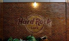 Hard Rock Cafe (G.E.Condit) Tags: seattle brick logo ally brickwall pointandshoot hardrockcafe grantcondit
