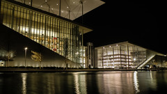 Stavros Niarchos Foundation Cultural Center [Explored] (Tassos Giannouris) Tags: athens exposure long stavros niarchos foundation cultural center greece night nightscape architecture building water reflections lights dark city