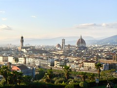 Florence/Firenze - cityscape (Christine Steuer) Tags: city florence firenze europe italy italien skyline colors colorful peace beautiful sky sun clouds cloud architecture kulture history church mountains blue gold white green red toscany cityscape landscape sunshine