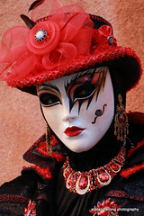 IMG_1499 Venice (marinbiker 1961) Tags: candidphotos people woman girl fashion carnivaldivenezia2017 venice mask red redlipstick outdoors italy 2017