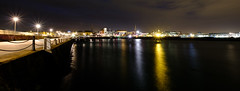 Dun Laoghaire (OgniP) Tags: night long exposure lights pier harbour dun laoghaire ireland fuji