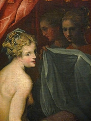 DUBREUIL Toussaint (et Atelier),1594-1602 - Hyante et Climène à leur Toilette (Louvre) - Detail 067 (L'art au présent) Tags: art painter peintre details détail détails detalles painting paintings peinture peintures 16th 16e peinture16e 16thcenturypaintings 16thcentury detailsofpainting detailsofpaintings tableaux peinturefrançaise frenchpaintings louvre paris france museum toussaintdubreuil toussaint dubreuil wash miroir mirror hair longhair cheveux cheveuxlongs servante servant handmaid room bedroom chambre bed lit figures people nakedwoman nakedwomen femmenue nuféminin nudity nudité bare nude femme woman women young jeunesfemmes amphore amphora rideaux fenêtre windows curtains