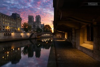Cathédrale Notre-Dame de Paris depuis le Quai Saint-Michel