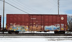 meter (Youra Dick) Tags: winter train graffiti stock boxcar freight bnsf rolling reefer mainline
