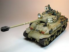 Academy  135 M-51 Super Sherman  Built in 2002  Photo Retaken 4 (My Toy Museum) Tags: tank super kit 135 academy sherman
