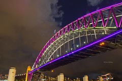 Sydney Harbour Bridge Vivid Sydney Day 1 (loobyloo55) Tags: bridge pink light lights purple sydney australia nsw newsouthwales harbourbridge vividsydney