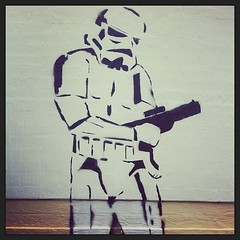 Storm trooper. #stencil #canberra (KatieTT) Tags: square squareformat iphoneography instagramapp xproii uploaded:by=instagram foursquare:venue=4bad4730f964a52033413be3