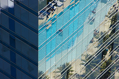 Cosmopolitan (ecstaticist) Tags: city las vegas abstract tree water glass pool architecture cosmopolitan palm line vdara