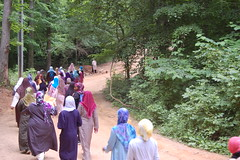 2013 Ladies Summer Camp (shadowgirl08) Tags: trees ladies summer camp green colors cake fun happy women walk muslim hijab smiles hats holy allah muhammad introduction azza naimah islamberg shadowgirl08 islamville