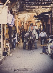 Souk'in it up -41 (DagobaMedia) Tags: africa street sun colour architecture market northafrica may streetlife arches morroco trading portraiture marrakech moors colourful souks oldcity berbers badr 2013 lifehappening medievalislamicarchitecture coloursofthesouk moorisharcheticture soukbackstreets