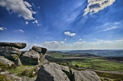 Stanage Edge Peak District (KRLandscapes) Tags: blue wild sky cliff sun mountain mountains nature rock stone clouds landscape grit countryside nikon rocks britain hiking district derbyshire country sigma peak panoramic edge 1020 dales stanage d5100 stanageedgepeakdistrictderbyshired5100sigma1020