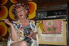 May 2013 (Patrice Bailey) Tags: kitchen tv cd crossdressing smoking tgirl transgender tranny blonde transvestite earrings rollers crossdresser crossdress ts gurl tg curlers tgurl