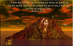 THE LORD HEARD MY VOICE (fantartsy JJ *2013 year of LOVE!*) Tags: love photoshop god photos glory jesus grace holy angels savior purity christianart fractalart bibleverses flickrdiamond christianmessages